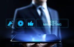 Wideo marketingowy reklama online biznesu interneta poj?cie zdjęcie stock