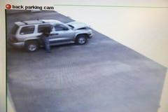 Wideo monitor Z obrazkiem Od kamery bezpieczeństwa Fotografia Royalty Free