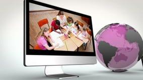 Wideo multimedie z Ziemską wizerunek kurtuazją Nasa org ilustracji
