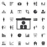Wideo prezentaci wywoławcza ikona fotografia stock