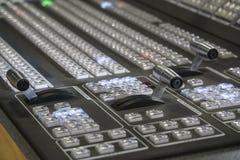 Wideo produkci Switcher telewizi transmisja obraz royalty free