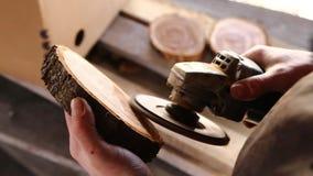 Wideo r?czny froterowanie drewniany powala? zdjęcie wideo