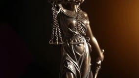 Wideo strzelający damy sprawiedliwości statua zbiory