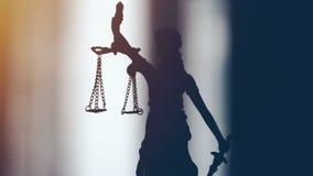 Wideo strzelający damy sprawiedliwości statua zdjęcie wideo