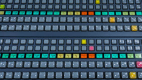 Wideo Switcher z mnóstwo kolorów guzikami zdjęcia stock