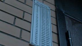 Wideo talerz z mieszkanie liczbami na ścianie zbiory