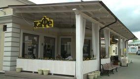 Wideo uliczna kawiarnia zbiory