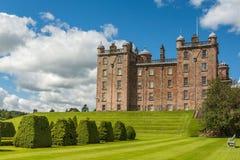 Wider shot of Drumlanrig Castle garden side, Dumfriesshire, Scot