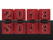 Widergespiegelt Übergangskonzept 2017 bis 2018 lizenzfreie abbildung
