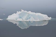 Widergespiegeltes Eis Stockfoto