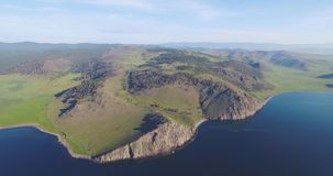 The beautiful valley in the highlands of Baikal stock footage