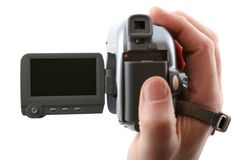 Widescreen camera (focus on the blank display) Royalty Free Stock Photography