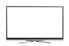 Widescreen dowodzony lub lcd interneta tv monitor obrazy stock