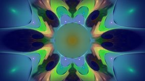Fractal ornate, widescreen. Widescreen fratal of weird bulbous shapes and color radiating out from centre circle royalty free illustration