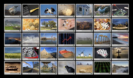 Widescreen HD. Displays with multiple images Stock Image