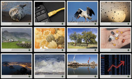 Widescreen HD displays. With multiple images Royalty Free Stock Photography