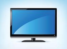 Widescreen HDTV Display. Widescreen HDTV Monitor in Vector format Stock Photos