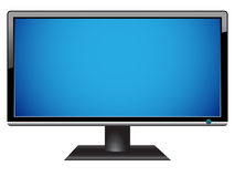 Widescreen hdtv lcd monitor. Isolated on a white vector illustration