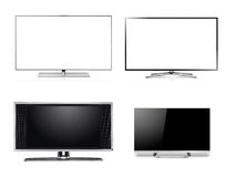 Widescreen HDTV LCD Monitor. Isolated on white Stock Photo