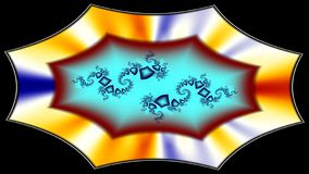 Ornate platter with jewellery. Widescreen image of bright colours resembling a platter with jewellery royalty free illustration
