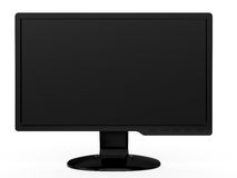 Widescreen LCD Monitor. 3d render of white widescreen HDTV LCD monitor Royalty Free Stock Image