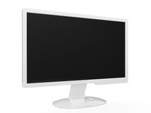 Widescreen LCD Monitor. 3d render of white widescreen HDTV LCD monitor royalty free illustration