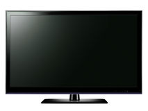 Widescreen LCD TV. Modern LCD television technology with blank screen Stock Photography