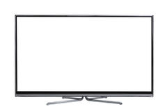 Widescreen led or lcd internet tv monitor. Frontal view of widescreen led or lcd internet tv monitor isolated on white Stock Images