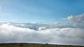 Widescreen looking over clouds from Helvellyn area Royalty Free Stock Images