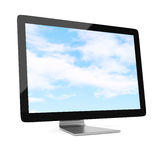Widescreen monitor Stock Photo