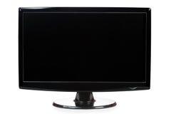 Widescreen svart TFT övervakar isolerade en vit Royaltyfria Bilder