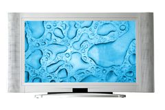 Widescreen television Royalty Free Stock Images