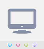 Widescreen TV Set - Granite Icons Royalty Free Stock Photos