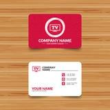Widescreen TV sign icon. Television set symbol. Royalty Free Stock Photos