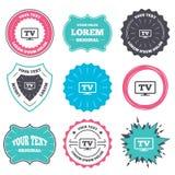 Widescreen TV sign icon. Television set symbol. Stock Photo