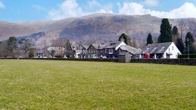 Widescreen view to Grasmere, Lake District Royalty Free Stock Image