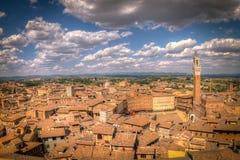 Wideshot von Siena, Italien Stockbilder