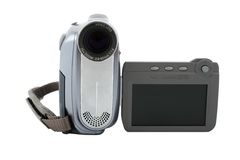 Widesreen camera with blank display Stock Images