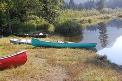 Widgeon Creek campground landing spot. Weekend kayaking on Pitt Lake- Widgeon Creek - BC. July 2012 Stock Images