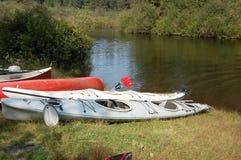 Widgeon Creek campground landing spot. Weekend kayaking on Pitt Lake- Widgeon Creek - BC. July 2012 Royalty Free Stock Photos