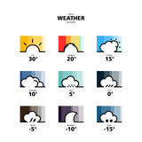 Widget и иконы погоды Стоковое Фото