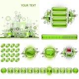 widgets сети gui элементов конструкции установленные Стоковая Фотография RF