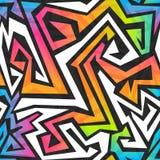 Widmo koloru graffiti bezszwowy wzór Zdjęcie Stock