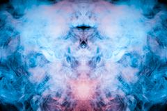 Widmowy rysunek obcy wizerunek w chuchach błękitny fiołek sm fotografia stock