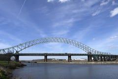 Widnes Runcorn bro 1 Fotografering för Bildbyråer