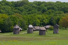 Widnmill in in open air museum near Kiev Royalty Free Stock Photo