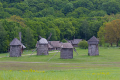Widnmill in in open air museum near Kiev Royalty Free Stock Images