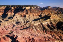 Widoczne warstwy Uroczystego jaru park narodowy, Arizona Obraz Stock