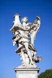 Widoczny anioł z kolumną, Castel Sant Angelo, Rzym, Włochy Zdjęcie Royalty Free