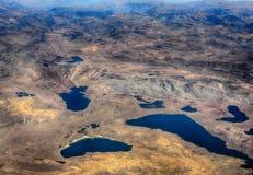 Widoków jeziora i góry Zdjęcia Stock